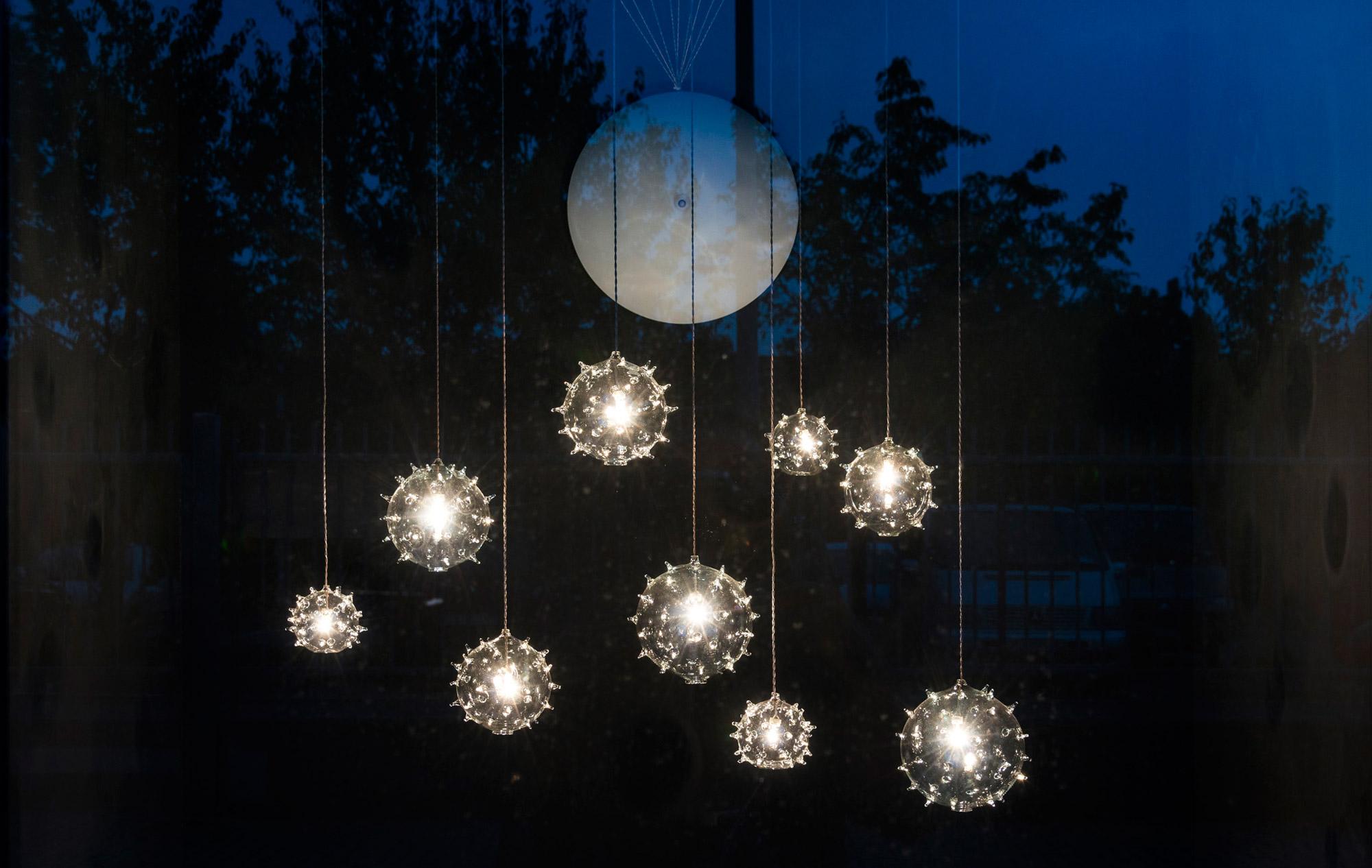Album showroom . detail of lights