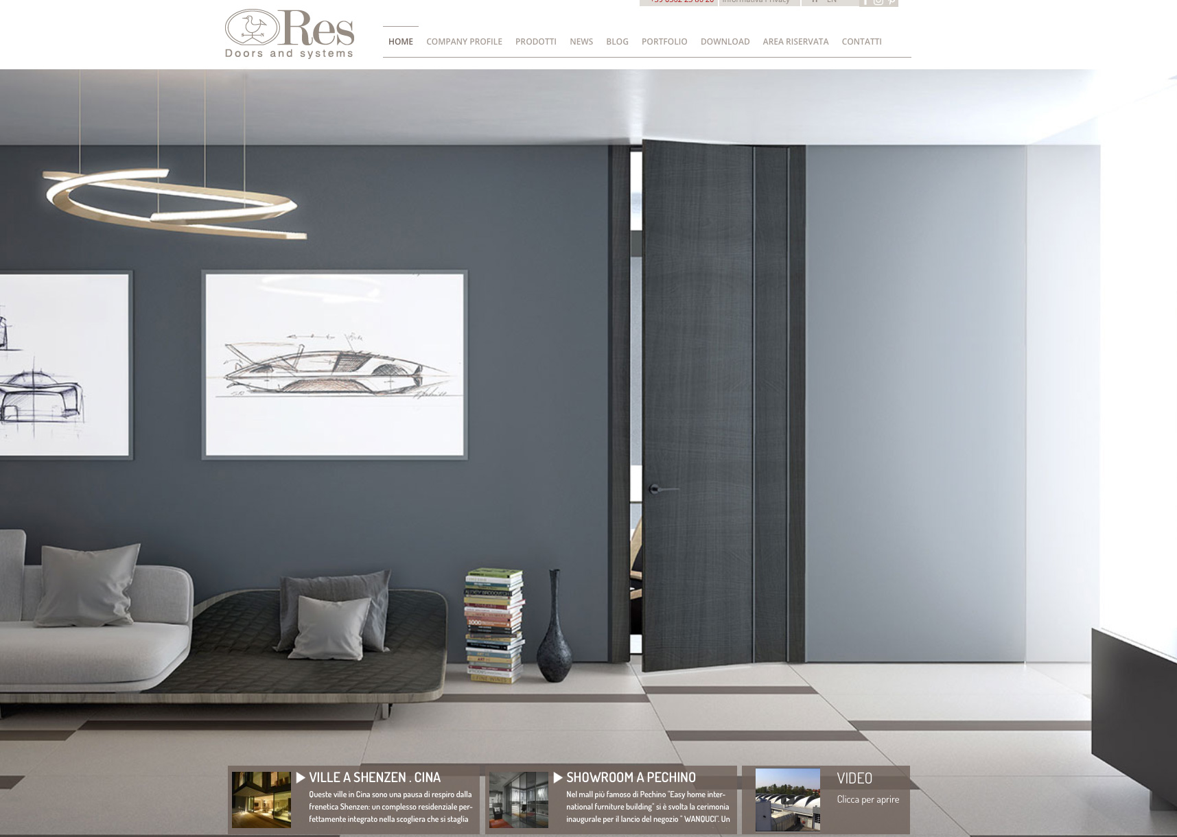 Date & website for Res door and systems by Massimo Cavana